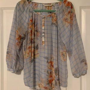 Lauren Conrad peasant style floral top. Size L
